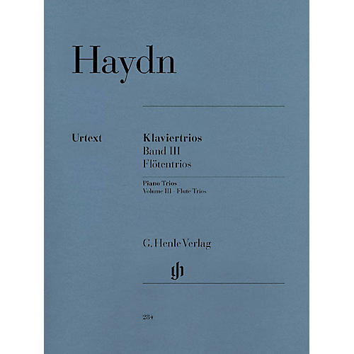 G. Henle Verlag Piano Trios - Volume III: Flute Trios Henle Music Folios Series Softcover Composed by Franz Joseph Haydn-thumbnail