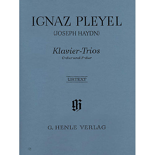 G. Henle Verlag Piano Trios Henle Music Folios Series Softcover Composed by Ignaz Pleyel-thumbnail