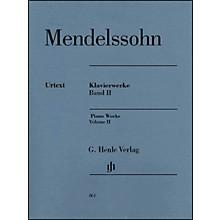 G. Henle Verlag Piano Works Volume II By Mendelssohn