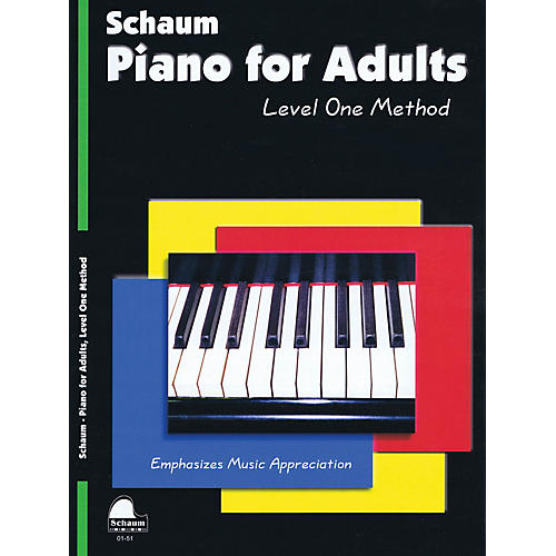 SCHAUM Piano for Adults (Level 1 Elem Level) Educational Piano Book by Wesley Schaum-thumbnail