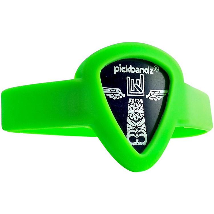 Pickbandz Pick-Holding WristBand Groovy Green Youth to Adult Small