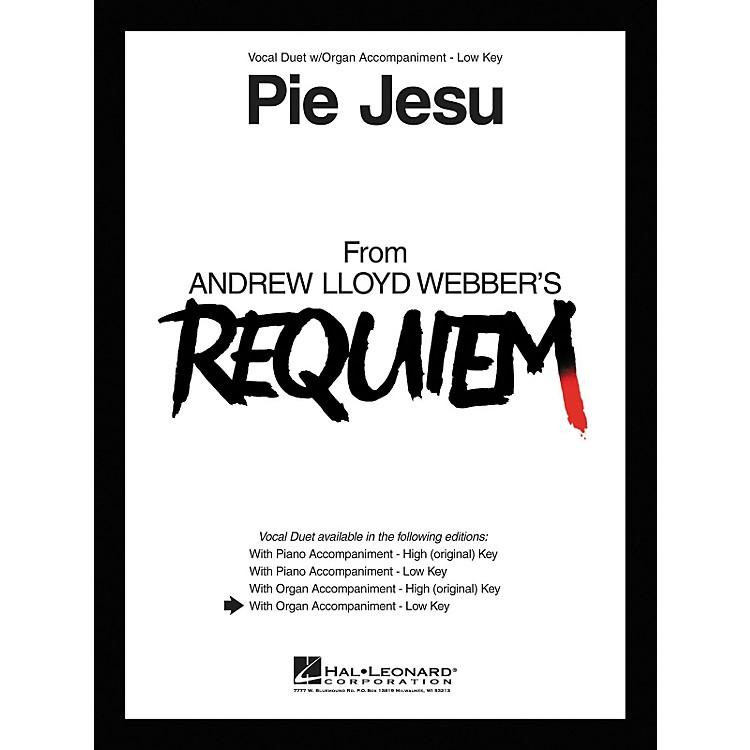 Hal LeonardPie Jesu From Requiem Vocal Duet Low Voice with Organ Accompaniment