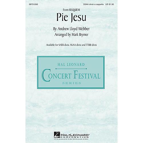 Hal Leonard Pie Jesu (from Requiem) SSAA Div A Cappella arranged by Mark Brymer