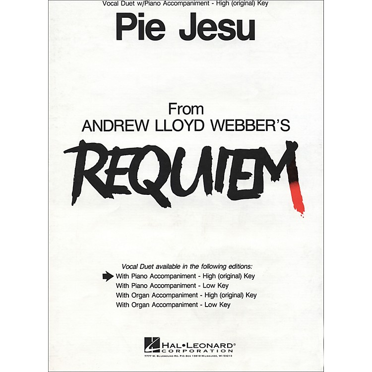 Hal Leonard Pie Jesu (from Requiem)