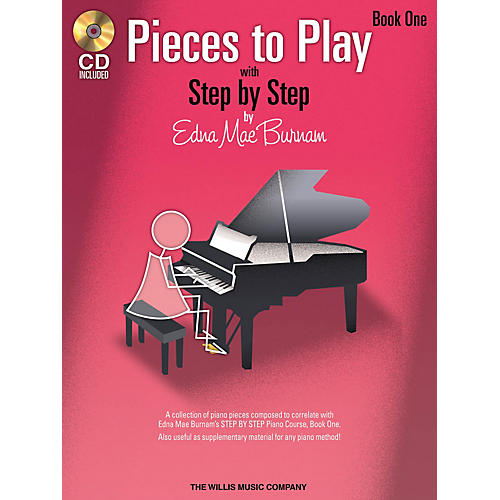 Willis Music Pieces to Play - Book 1 with CD Willis Series Softcover with CD Composed by Edna Mae Burnam-thumbnail