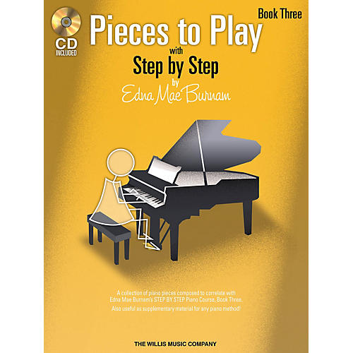 Willis Music Pieces to Play - Book 3 with CD Willis Series by Edna Mae Burnam (Level Late Elem to Early Inter)-thumbnail