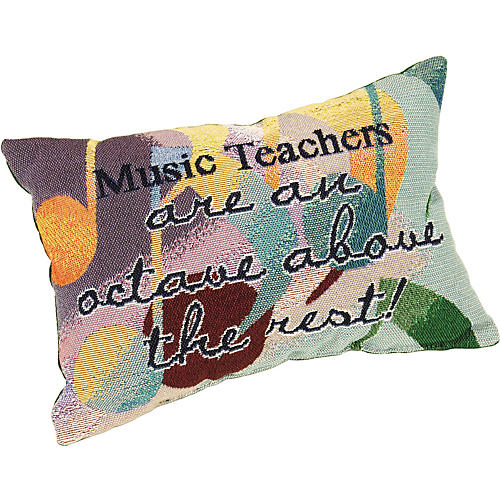 Gifts of Note Pillow Music Teachers Octave