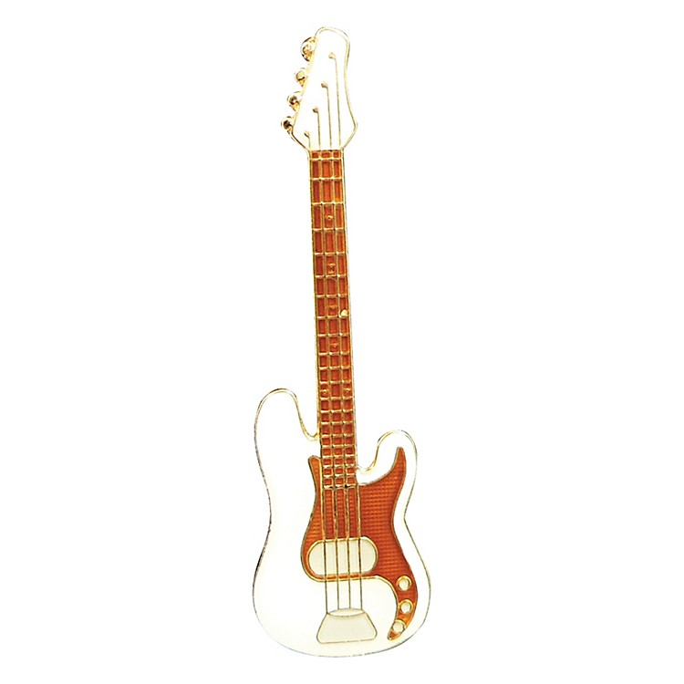 AIM Pin Electric Bass White