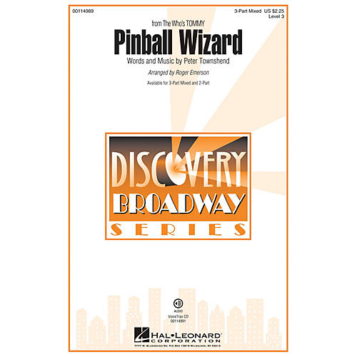 Hal Leonard Pinball Wizard (Discovery Level 3 2-Part) 2-Part by The Who Arranged by Roger Emerson