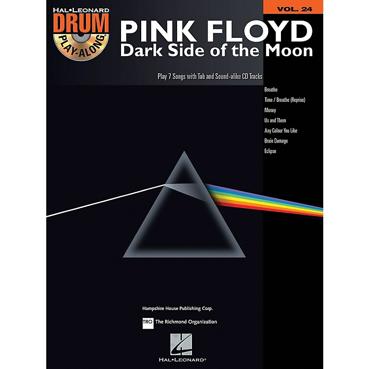 Hal Leonard Pink Floyd - Dark Side Of The Moon - Drum Play-Along Volume 24 (Book/CD)