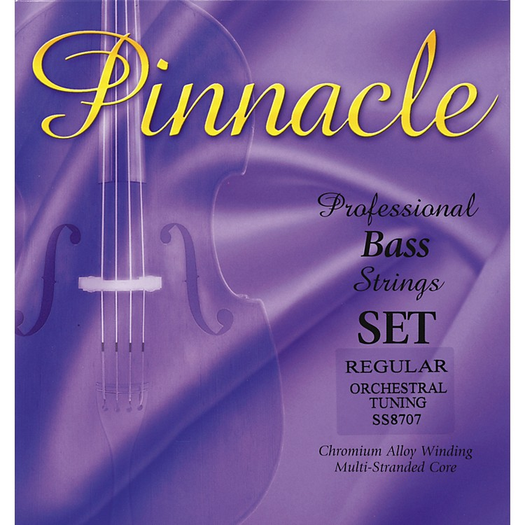 Super Sensitive Pinnacle Bass Strings Set, Medium 3/4 Size