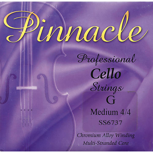 Super Sensitive Pinnacle Cello Strings G, Medium 4/4 Size