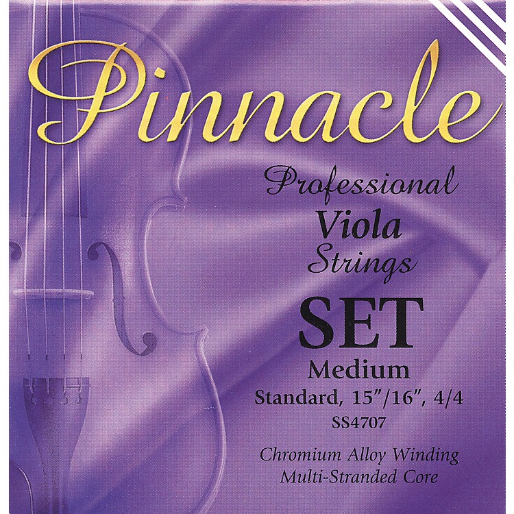Super Sensitive Pinnacle Viola Strings Set, Medium 4/4 Size