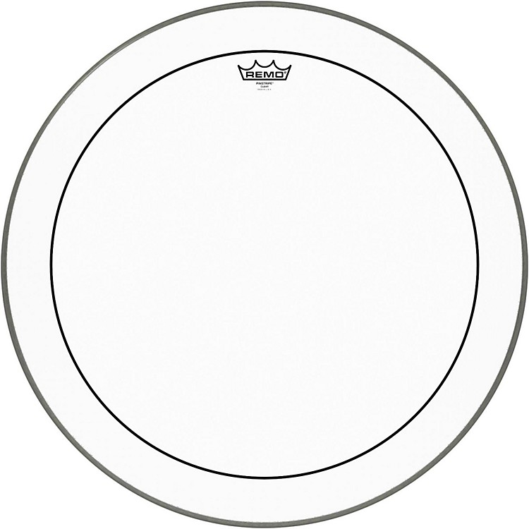 Remo Pinstripe Clear Bass Drum Head  24 Inches