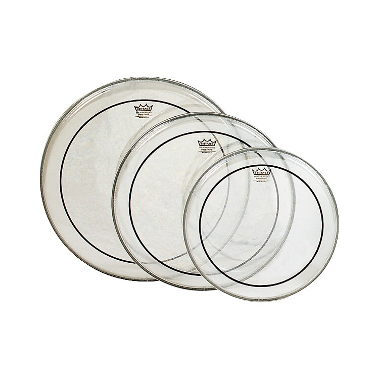 Remo Pinstripe Tom Drumhead Pack Standard Clear