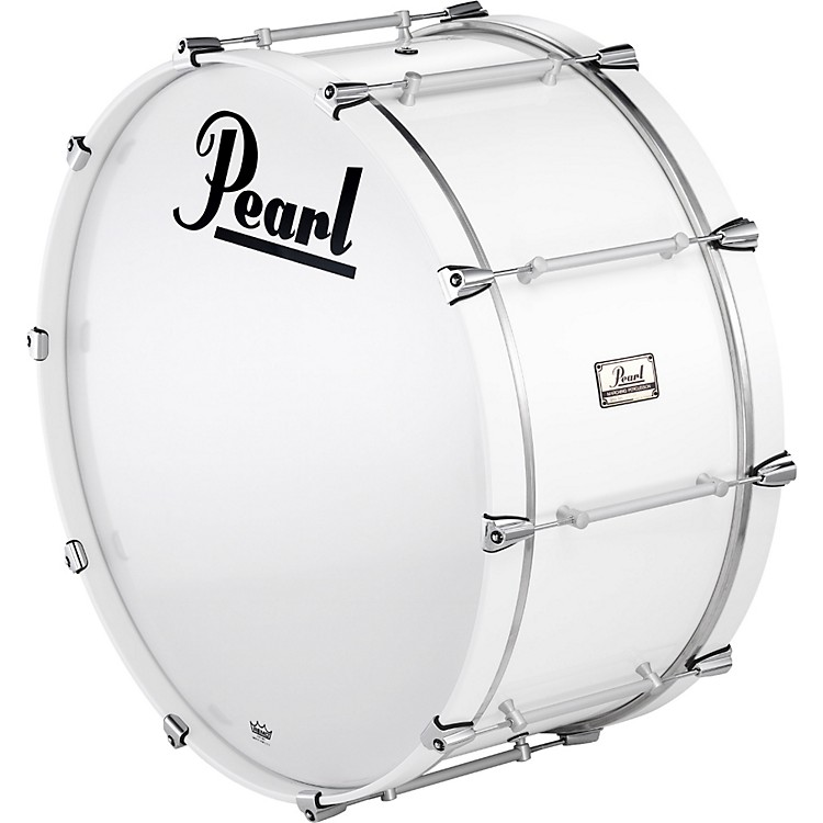 Pearl Pipe Band Bass Drum with Tube Lugs #109 Artic White 28x16