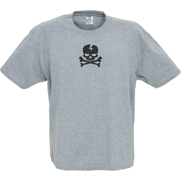 Gear One Pirate Skull T-Shirt Gray Extra Large