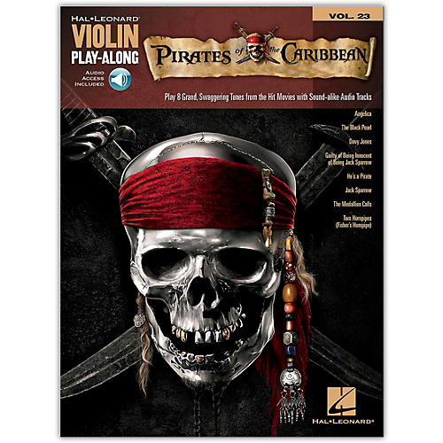 Hal Leonard Pirates Of The Caribbean - Violin Play-Along Volume 23 Book/CD
