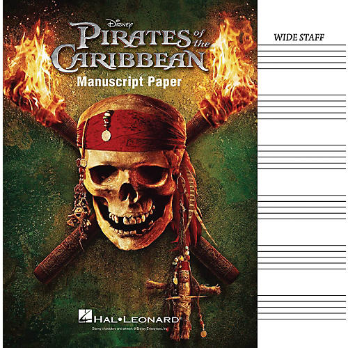 Hal Leonard Pirates Of The Caribbean Manuscript Paper