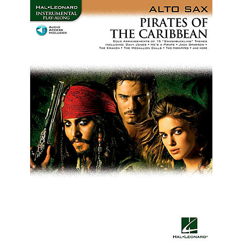 Hal Leonard Pirates Of The Caribbean for Alto Sax Instrumental Play- Along Book/CD