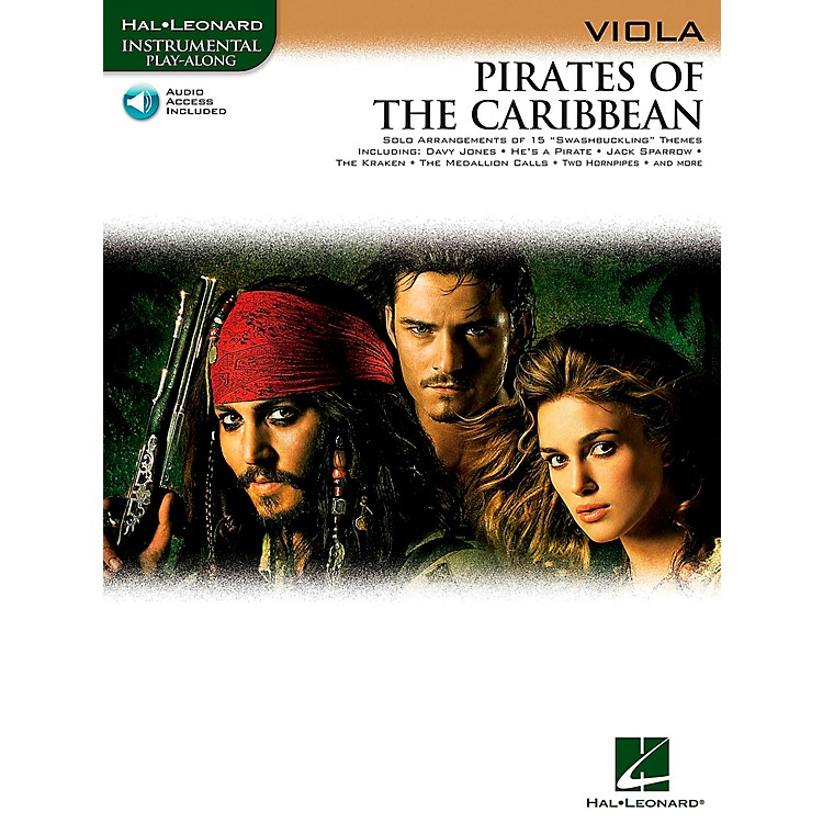 Hal Leonard Pirates Of The Caribbean for Viola Instrumental Play- Along Book/CD