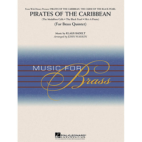Hal Leonard Pirates of the Caribbean (Brass Quintet (opt. Percussion)) Concert Band Level 3-4 Arranged by John Wasson-thumbnail