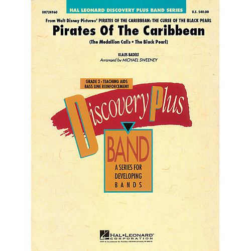 Hal Leonard Pirates of the Caribbean Concert Band Level 1.5 Arranged by Michael Sweeney-thumbnail