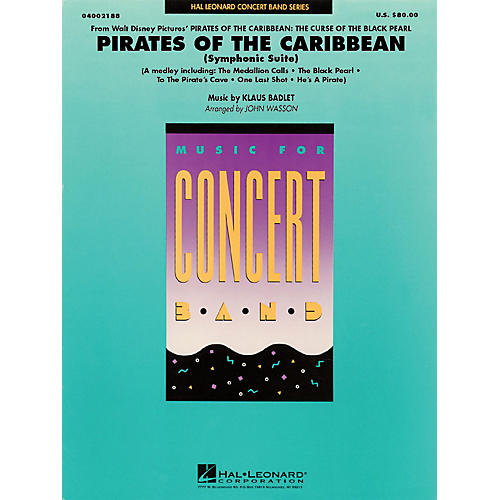 Hal Leonard Pirates of the Caribbean (Symphonic Suite) Concert Band Level 4 Arranged by John Wasson