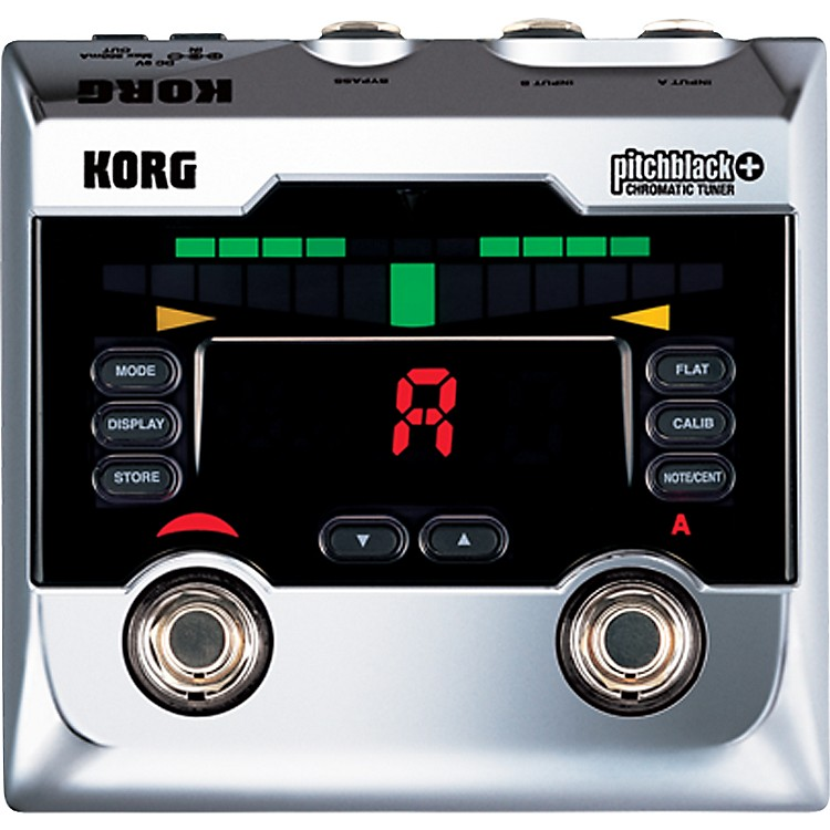 Korg Pitchblack+ Limited Edition Chrome Pedal Tuner