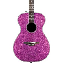 Daisy Rock Pixie Acoustic-Electric Guitar Pink Sparkle
