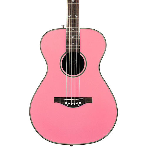 Daisy Rock Pixie Acoustic Guitar Peppermint Pink