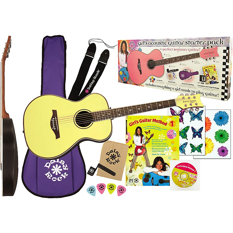 Daisy Rock Pixie Acoustic Guitar Starter Pack