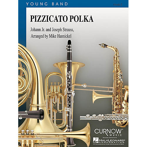 Curnow Music Pizzicato Polka (Grade 2 - Score and Parts) Concert Band Level 2 Arranged by Mike Hannickel-thumbnail