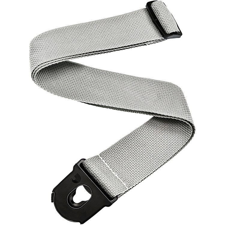 Planet Waves Planet Lock Locking Nylon Guitar Strap Silver