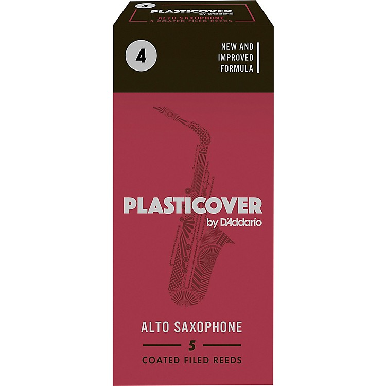 Rico Plasticover Alto Saxophone Reeds Strength 4 Box of 5