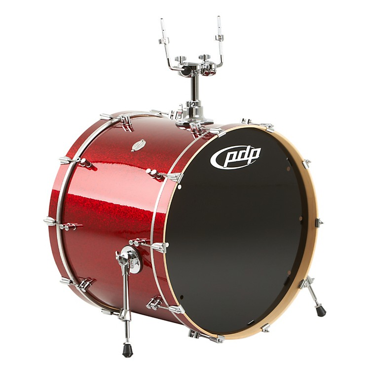PDP Platinum Finishply Bass Drum with Tom Mount