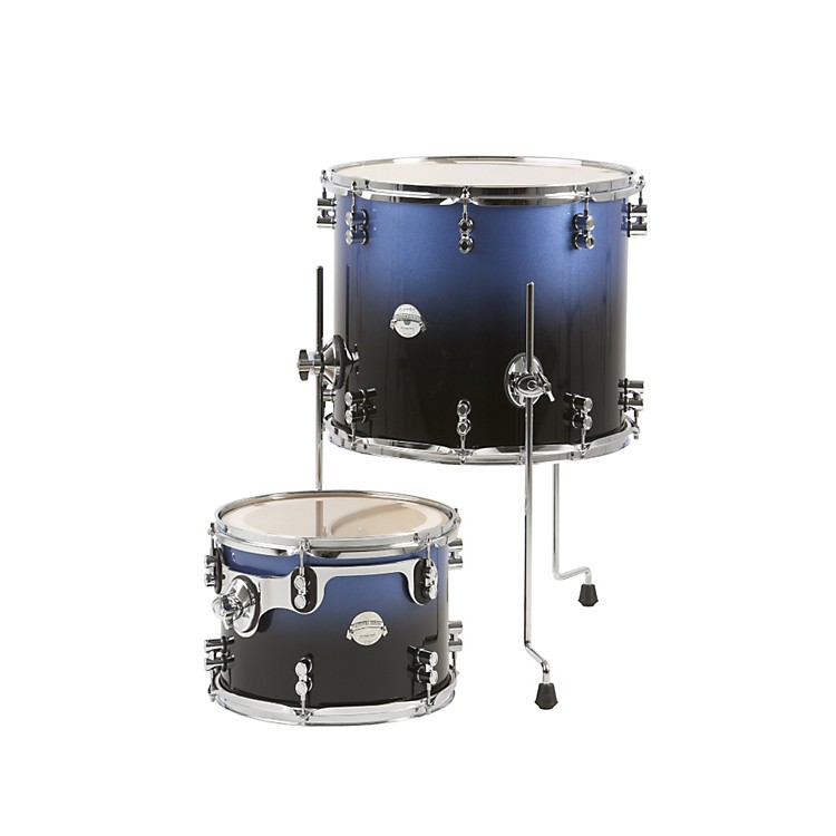 PDP Platinum Lacquer 2-Piece Tom Drum Pack Blue to Black Fade