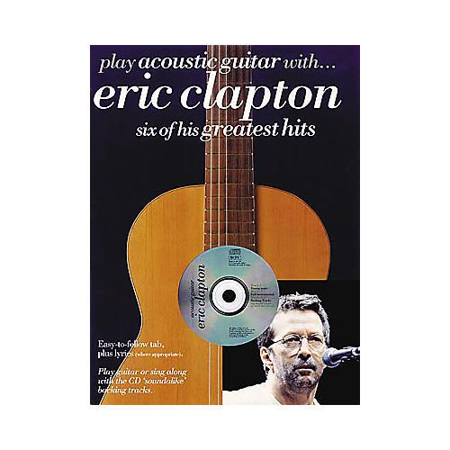 Hal Leonard Play Acoustic Guitar with Eric Clapton (Book/CD)-thumbnail