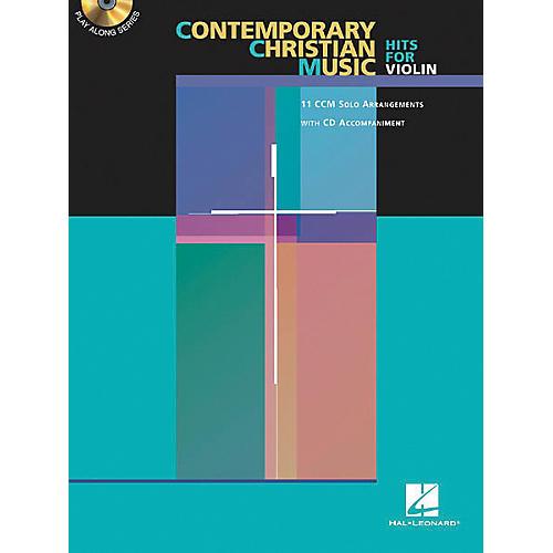 Hal Leonard Play-Along Contemporary Christian Hits Book with CD Trombone-thumbnail