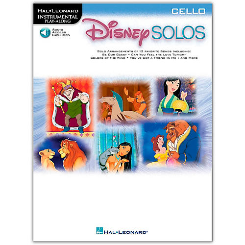 Hal Leonard Play-Along Disney Solos Book with CD Cello