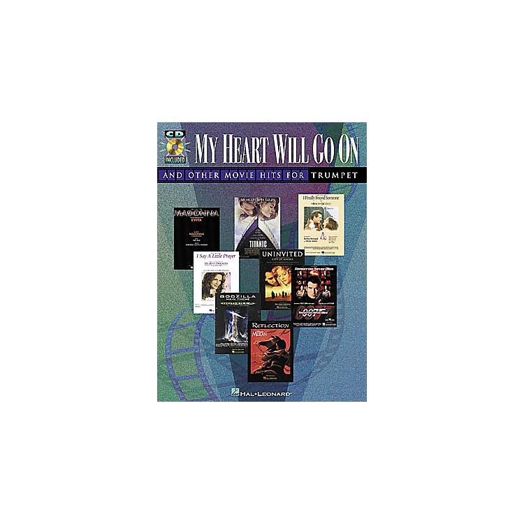 Hal Leonard Play-Along Movie Hits Book with CD Trumpet Alto Saxophone