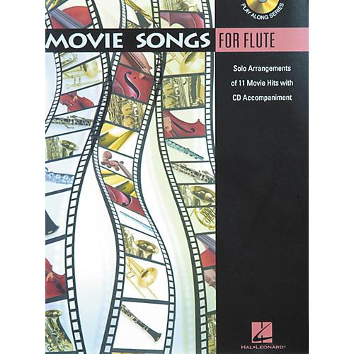 Hal Leonard Play-Along Movie Songs Book with CD Viola Flute