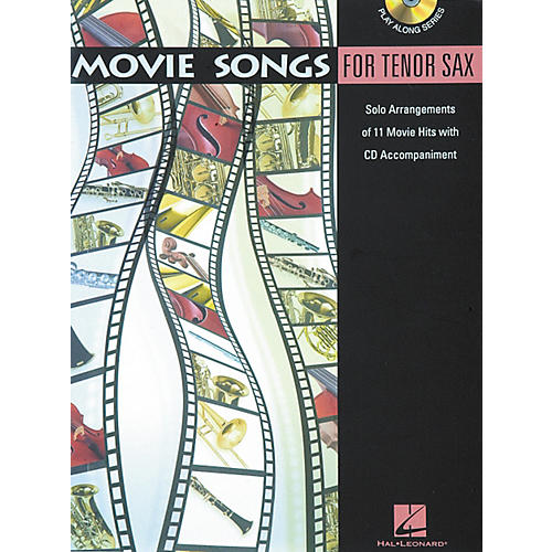 Hal Leonard Play-Along Movie Songs Book with CD Viola Tenor Saxophone