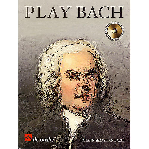 De Haske Music Play Bach De Haske Play-Along Book Series Softcover with CD Composed by Johann Sebastian Bach-thumbnail