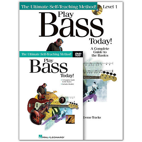 Hal Leonard Play Bass Today! Level One (Book/CD/DVD)