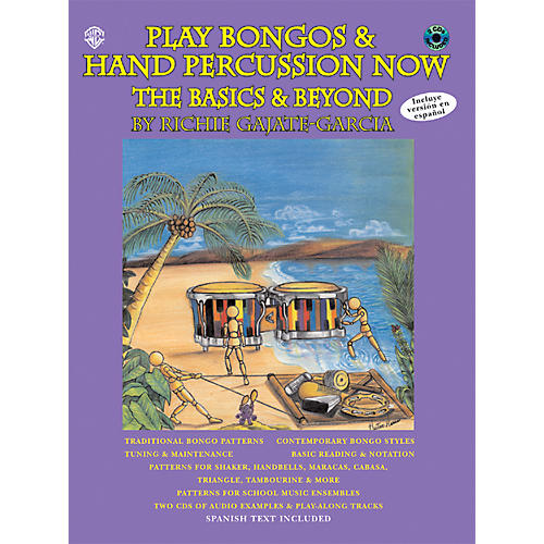 Alfred Play Bongos and Hand Percussion Now - Book and 2-CD Set-thumbnail