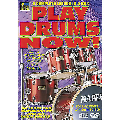Music Sales Play Drums Now! (A Complete Lesson in a Box) Music Sales America Series Written by Toni Cannelli-thumbnail