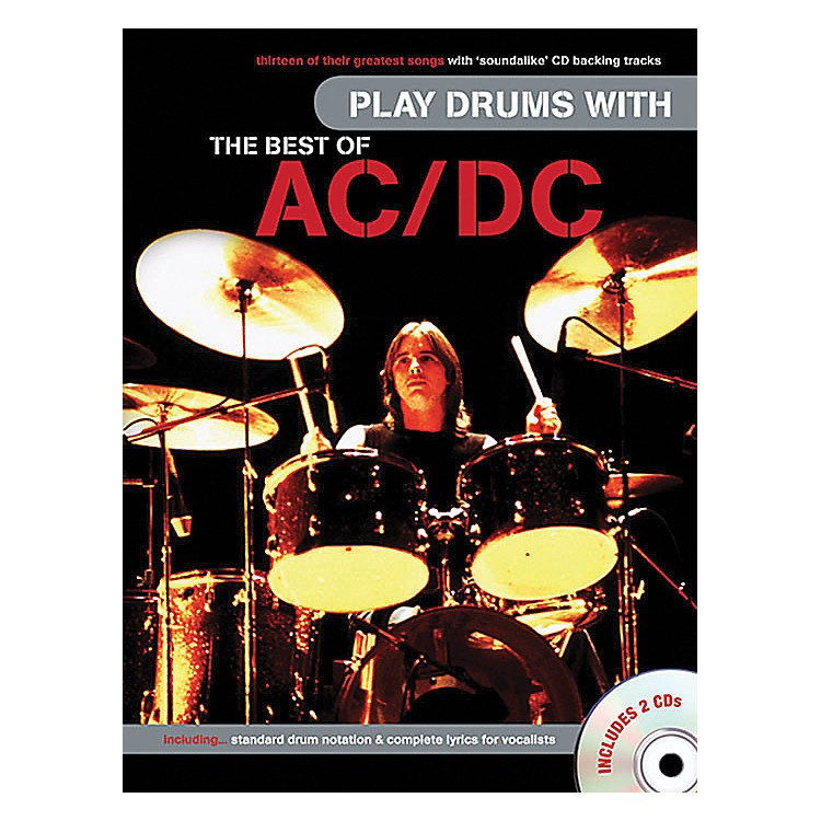 Music Sales Play Drums With The Best Of AC/DC (Book & 2 CD's)