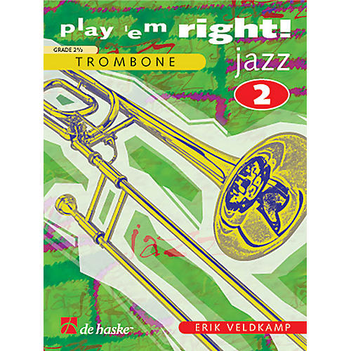 De Haske Music Play 'Em Right Jazz - Vol. 2 (Trombone) De Haske Play-Along Book Series Composed by Erik Veldkamp-thumbnail