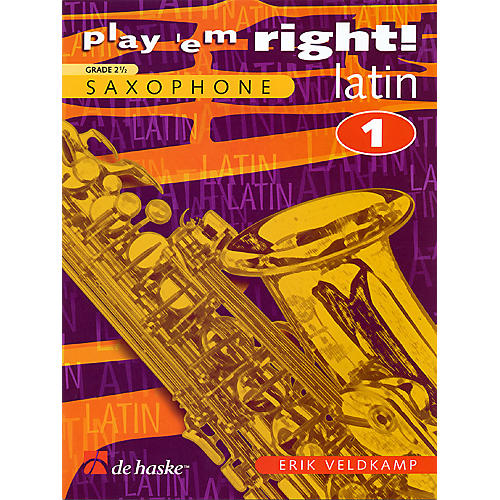 De Haske Music Play 'Em Right Latin - Vol. 1 (Vol. 1 - Eb/Bb Sax) De Haske Play-Along Book Series-thumbnail